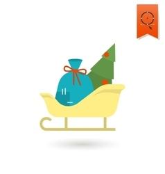 Christmas Sleigh Colorful vector image vector image