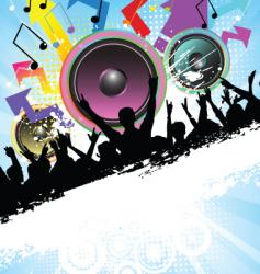 disco time vector image vector image