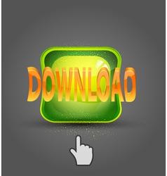 icon download and cursor vector image vector image