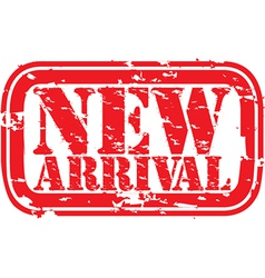 New arrival stamp vector image