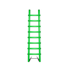 wooden ladder in green design with shadow leading vector image vector image