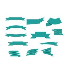 banner ribbons set vector image