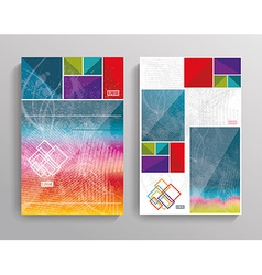 brochure template design with bright cubes vector image vector image