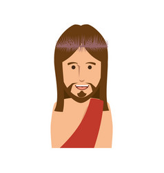 cartoon jesus christ ico vector image