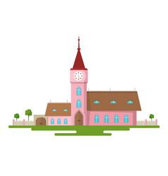 church flat design rural estate abstract building vector image