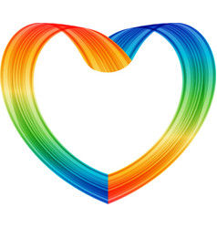 multicolored heart vector image vector image