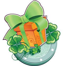 st patrick day present gift box vector image
