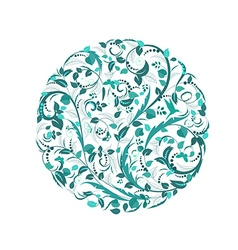 abstract circular pattern of floral vector image vector image