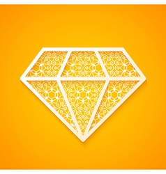 Abstract Diamond Silhouette vector image