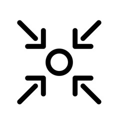here you are icon of point and four arrows vector image