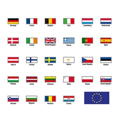 highly detailed flags of The European Union vector image vector image