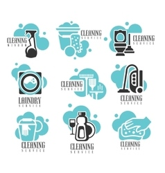 House And Office Cleaning Service Hire Labels Set vector image vector image