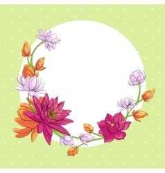 lotus background vector image vector image