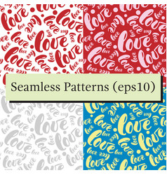 romantic red love pattern background vector image