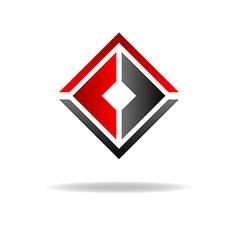 Two C - letter logo geometric shape vector image vector image