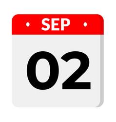 02 september calendar icon vector