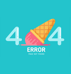 404 ice-cream fall error page not found pastel vector