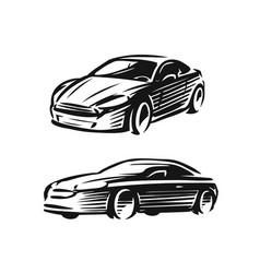 abstract car logo automotive concept vector image