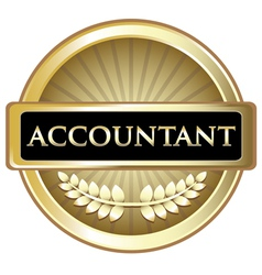 Accountant Gold Label vector image