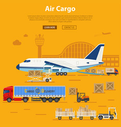 Air cargo delivery and logistics vector