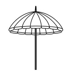 Beach umbrella summer isolated icon vector