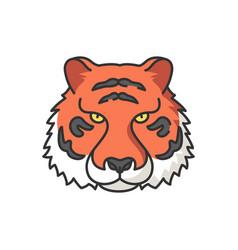 Bengal tiger rgb color icon vector