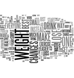 Best way to lose weight text word cloud concept vector