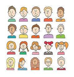 Big set cartoon avatars vector image