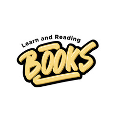 books logo text for business vector image