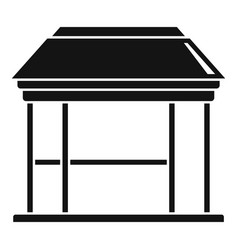 Bower gazebo icon simple style vector