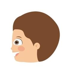 boy head profile isolated icon design vector image