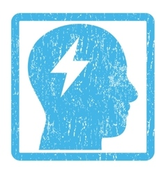 Brainstorming Icon Rubber Stamp vector