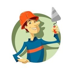 builder with trowel vector image