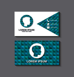 business card set template for identity corporate vector image