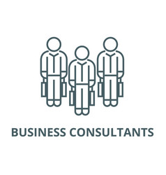 business consultants line icon business vector image