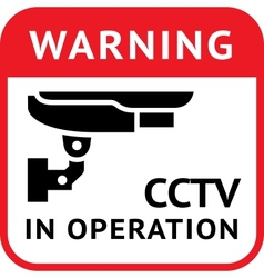 Cctv pictograph security camera vector