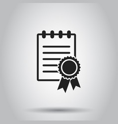 certificate diploma icon on isolated background vector image