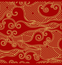 chinese traditional style clouds and circles vector image