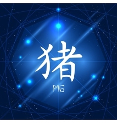Chinese Zodiac Sign Pig vector image