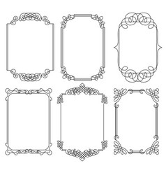 collection of frames vector image