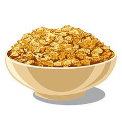 cornflakes in bowl vector image