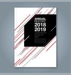 cover annual report 914 vector image
