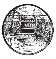 cranberry bog outlet vintage vector image