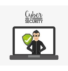 Cyber security vector