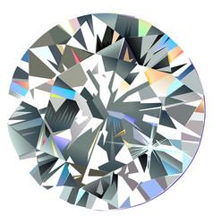 diamond top view vector image
