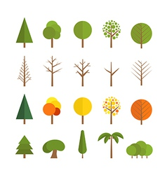 Different trees collection vector