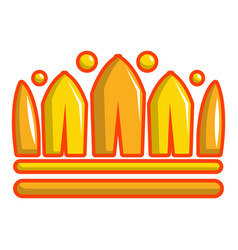Earl crown icon cartoon style vector
