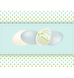 Easter egg panel background vector image