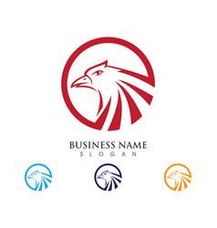 Falcon logo template vector