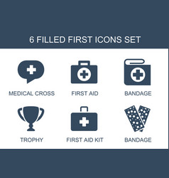 First icons vector